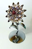 Crystocraft Giant Sunflower Swarovski Crystals Ornament Figurine Flower Gift