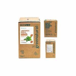 GREENATURAL BAG 5 Kg Lavastoviglie Liquido MENTA & EUCALIPTO - ecobio