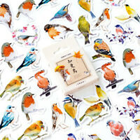 45Pcs Cute Robins Birds Adhesive Stickers DIY Diary Albums Stationery Stickers