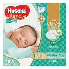 Huggies Ultimate Newborn Nappies Size 1 (108 Pack)