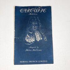 Tartuffe Manuscript Miles Malleson Samuel French Ltd w/Actors Notes