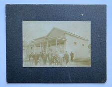 New listing c1891 Exterior New Storefront Group Photo Lone African American Man Cabinet Card