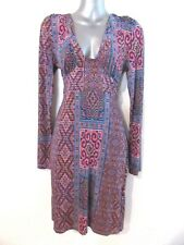 LILI Moroccan Kilim Print Dress Long Sleeves Soft Stretch Fabric RP$139 NWT 8