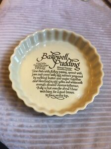 Vintage Flan Dish With Bakewell Pudding Recipe.Pearsons.Great Condition.