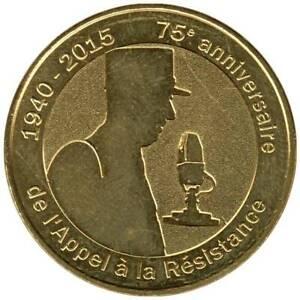 52-2093 - JETON TOURISTIQUE MDP - 75e anniv. de l'Appel à la Résistance - 2015.2