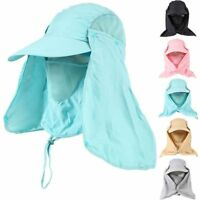 Cover UV Face Sport Neck Wide Brim Cap Sun Protection Hat Fishing Outdoor Flap
