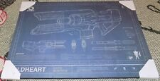 Destiny 2 Coldheart Exotic Beam Rifle Mounted Art Print by Trends!! 12 x 8.5""