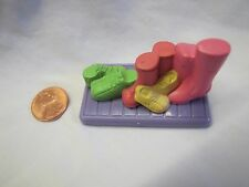 New! FISHER PRICE Loving Family Dollhouse SHOE BOOT MAT Boots for MUDROOM Rare!