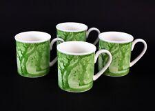 Villeroy & Boch Parkland Toile Green Mugs Set Of 4