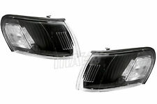 TOYOTA COROLLA 1993-1997 EURO CLEAR BLACK HOUSING CORNER LIGHTS 93-97 DEPO