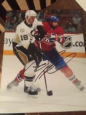 ADAM HALL SIGNED 8x10 PITTSBURGH PENGUINS photo ACTION