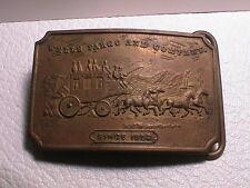 WELLS FARGO & COMPANY SINCE 1852 STAGECOACH MAIL POSTAL TIFFANY MENS BELT BUCKLE