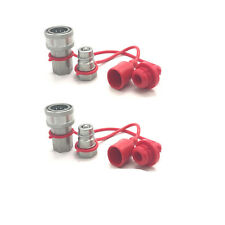 """1/2"""" Ag Hydraulic Quick Connect Couplers Couplings, Ball Pioneer Style 2 Sets"""