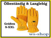 WELDAS Arbeitshandschuhe ECHT LEDER Montagehandschuhe Handschuhe ölbeständig