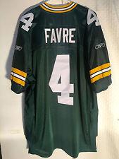 Reebok Authentic NFL Jersey Green Bay Packers Brett  Favre  Green sz 52