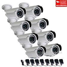 8x Security Camera Weatherproof Infrared Day Night Varifocal 700TVL 42 LEDs BTV