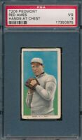 1909 - 1911 T206 Red Ames Hands at Chest PIEDMONT 150 PSA 3 VG *OBGcards*