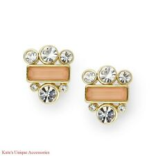 Fossil Brand Polished Gold-tone Cluster Studs Earrings W/ Clear Crystals NWT $38