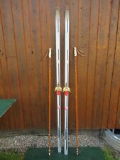 """Ready to Use Cross Country 80"""" ROSSIGNOL 208 cm Skis +  Poles"""