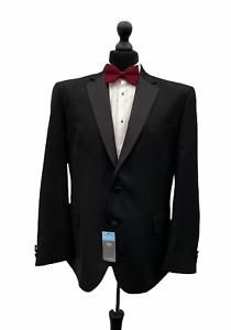 Mens Marks & Spencer Tuxedo Dinner Suit Jacket Chest 46 Short Black  P235