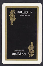 100 Pipers De Luxe Scotch Whisky,Vintage Single Playing Card