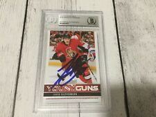 Jakob Silfverberg Signed 2012/13 Upper Deck Young Guns YG RC #238 Beckett BAS b