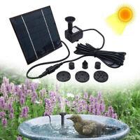 Solar Power Floating Pump Water Fountain Bird Bath Home Pool Pond Garden Decors