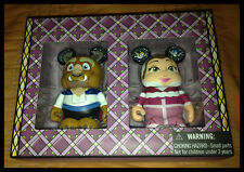 "Disney D23 Expo BEAUTY AND THE BEAST Winter Belle 3"" VINYLMATION LE Set RARE!"