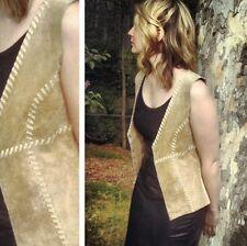 Vintage Leather Vest Boho hippie hipster