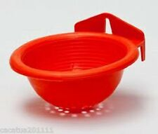 SUPERIOR QUALITY:  2 X PLASTIC NEST PANS  FOR CANARIES/FINCHES - ORANGE
