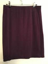 Knee-Length Viscose A-Line Solid Skirts for Women