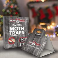 Pantry Moth Traps- Safe and Effective for Food and Cupboard Glue Traps (8 Pack)
