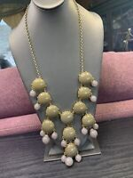 """Signed J Crew Grey Miss Green Lavender  Enhanced Long Sweater Necklace 30"""""""