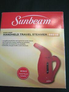 SUNBEAM HANDHELD TRAVEL STEAMER SB51R NEW