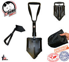 """D-Rhino Folding Shovel 24"""" Camping Garden Military Style Survival with Case"""