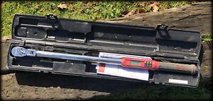 "Snap On ATECH3F300RB 1/2"" Drive 15-300 ft-lb Flex-Head Digital Torque Wrench"