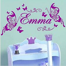 Emma Butterfly Girl Wall Sticker Wall Stickers for Kids Rooms-Emma name only