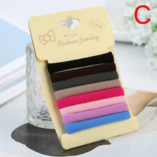 8pcs Hair Band Ties Rope Ring Elastic Rubber Hairband Ponytail Holder Gifts SR a