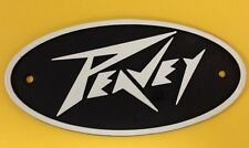 Peavey Die-Cast Oval Black and White Logos (Lighting Bolt Style) Amps & Cabs NEW
