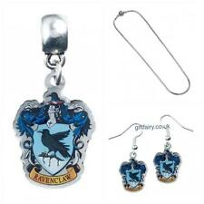 Genuine Harry Potter Silver Plated Ravenclaw Charm, Slider Necklace & Earrings