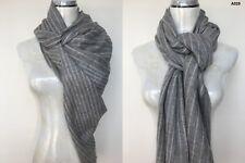Womens 100% Alpaca Pashmina Shawl Scarf Wrap Cashmere Silk Wool Stole Handwoven