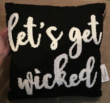 Indoor Let's Get Wicked Throw Pillow Black-White 14""