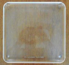 "SQUARE 10 5/8"" x 10 1/2"" MICROWAVE CLEAR GLASS TRAY OVEN PLATE Clean"