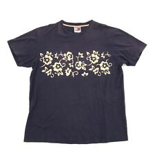 VINTAGE Tommy Hilfiger T-shirt Size Medium M Box Logo Tee Hawaiian Short Sleeve