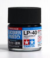 Tamiya Color 田宮 タミヤ Lacquer Model Kit Paint 10ml # LP-40 Metallic black