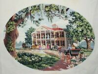 """Dimensions Gold Collection """"Southern Social"""" Cross Stitch Completed Finished"""