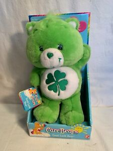 "2003 CARE BEARS 12"" Good Luck SHAMROCK St. Patricks Day BEAR New in Box NO VIDEO"