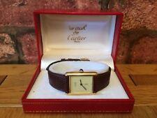 Fabulous Must de Cartier 925 or vintage unisexe Tank Montre-Bracelet & Box