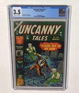 Uncanny Tales #13 CGC 3.5 (Russ Heath, Joe Sinnott) Pre-Code Horror 1953 Atlas