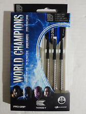 TARGET WORLD CHAMPIONS PRO GRIP 80% TUNGSTEN 22G STEEL TIP DARTS - BNIB